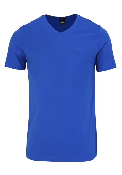 BOSS BUSINESS Regular Fit Kurzarm T-Shirt CANISTRO royal blau