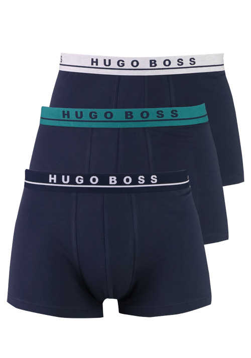 BOSS Boxershorts 3er Pack Stretch blau