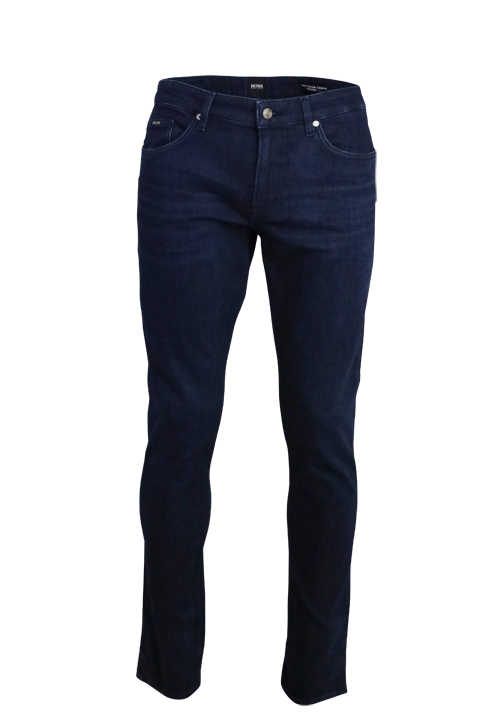 BOSS Business Slim Fit Jeans DELEWARE3 Cashmere-Stretch Used dunkelblau