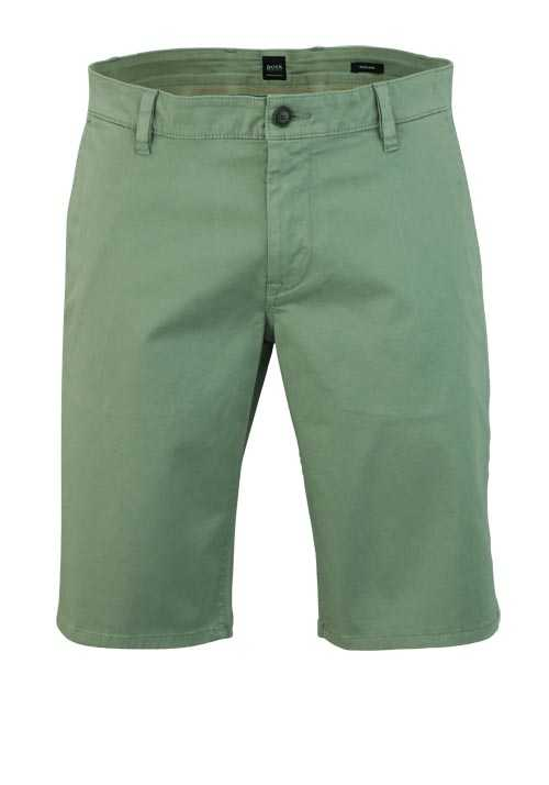 BOSS CASUAL Regular Fit Short SCHINO Reißverschluss oliv