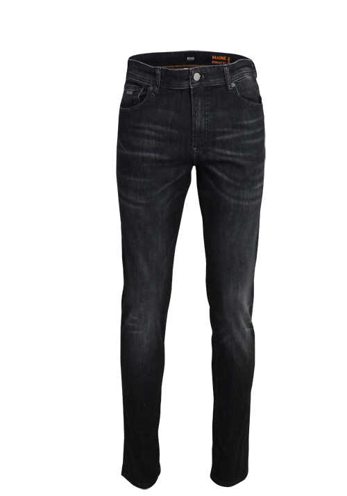 BOSS Casual Regular Fit Jeans dunkelgrau