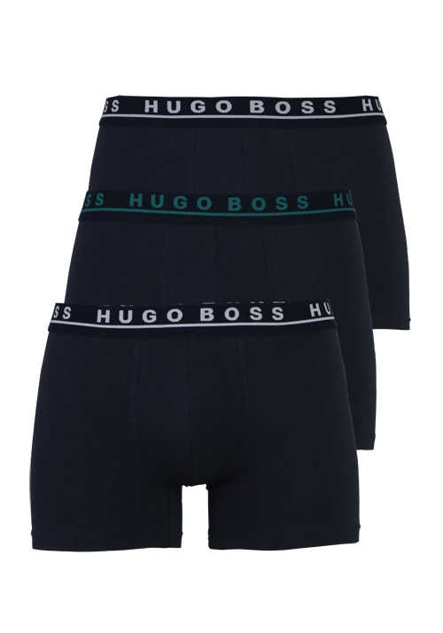 BOSS Cyclistshorts Gummibund Stretch 3er Pack blau