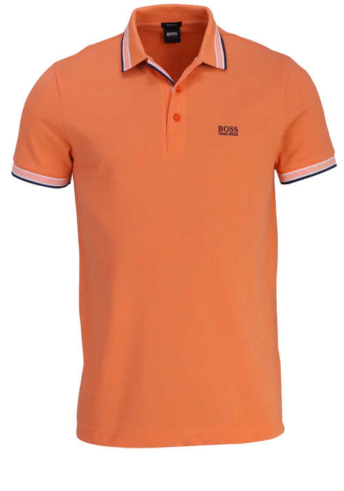 BOSS Halbarm Poloshirt PADDY Polokragen Regular Fit apricot