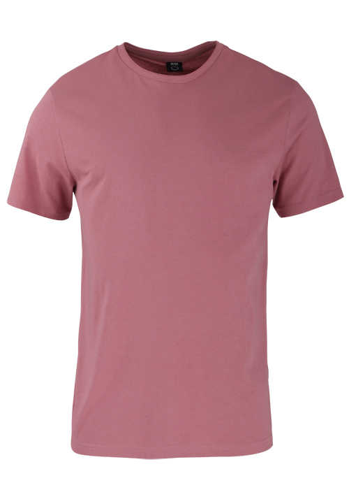 BOSS Halbarm T-Shirt TRUST Rundhals Regular Fit altrosa