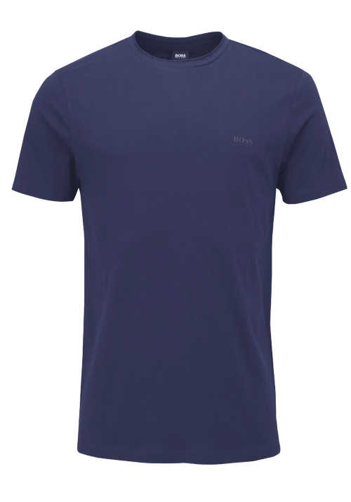 BOSS Halbarm T-Shirt TRUST Rundhals Regular Fit rauchblau