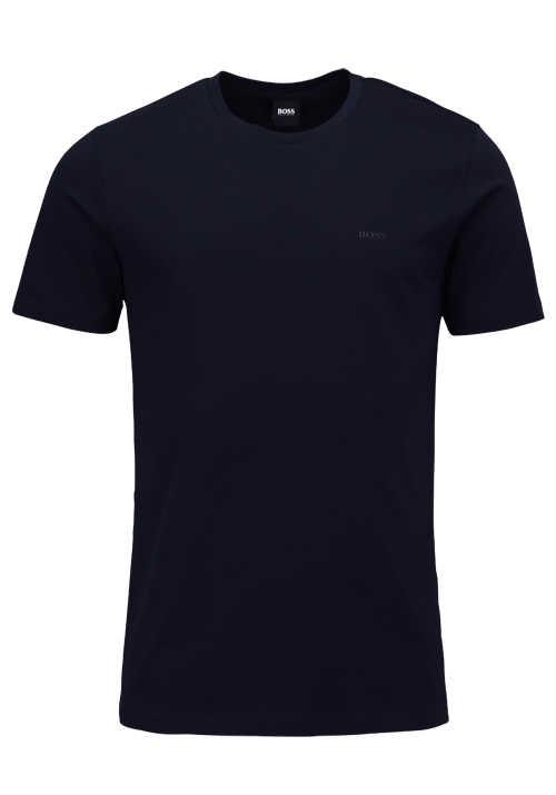 BOSS Halbarm T-Shirt TRUST Rundhals Regular Fit schwarz