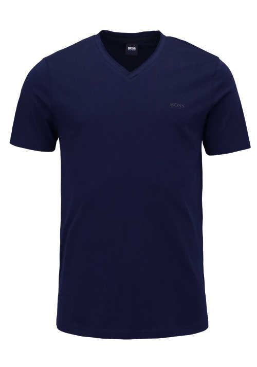 BOSS Halbarm T-Shirt TRUTH V-Ausschnitt Regular Fit navy