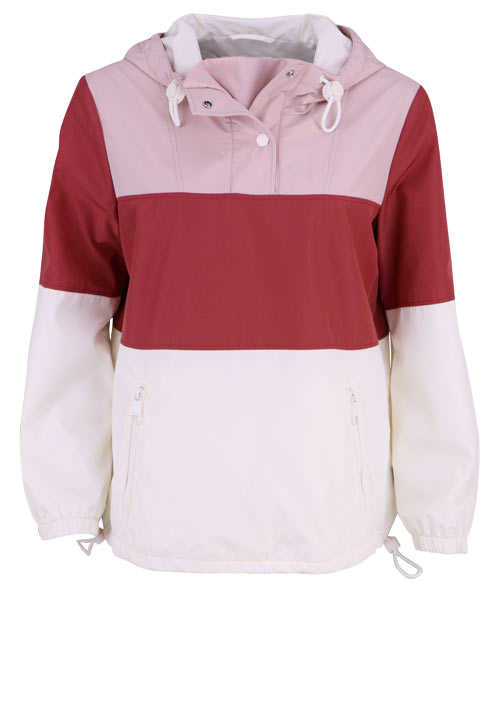 BOSS Langarm Windbreaker OTWIGGY Kapuze Multicolor rot