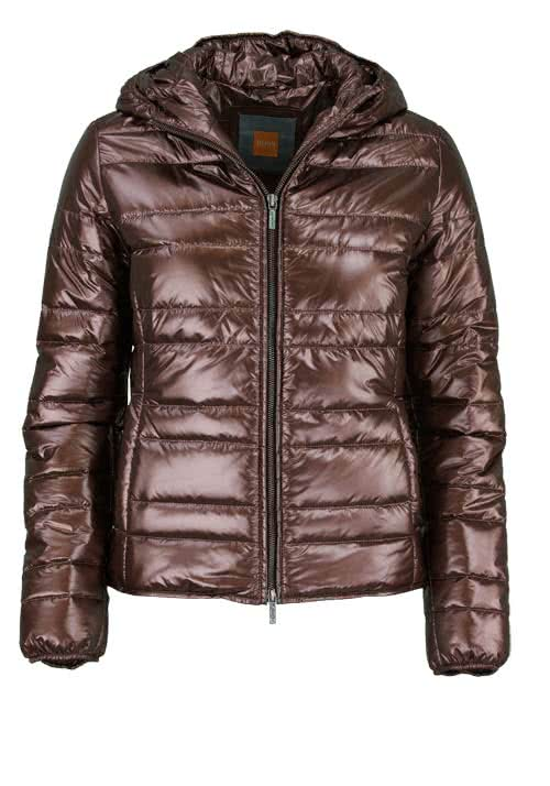 BOSS ORANGE Langarm Steppjacke OTARRA Kapuze Metallic bronze