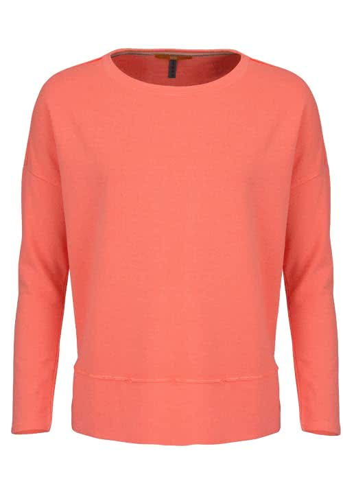 BOSS ORANGE Langarm Sweatshirt TERSWEAT Rundhals oversize orange