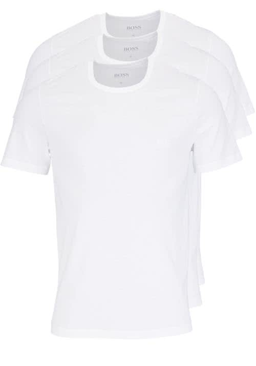 BOSS Regular Fit Kurzarm T-Shirt Rundhals 3er Pack weiß
