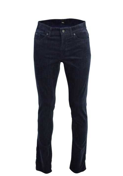 BOSS Slim Fit Cordhose DELAWARE3 5 Pocket nachtblau