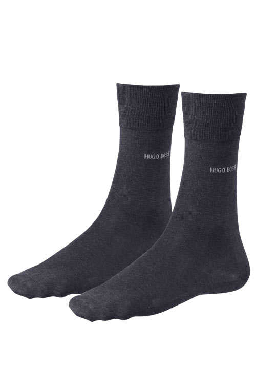 BOSS Socken GEORGE RS mercerisierte Baumwolle anthrazit