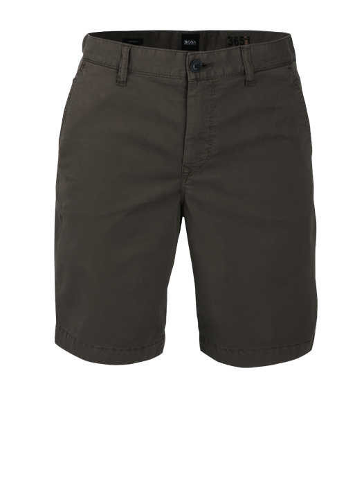 BOSS Tapered Fit Shorts SCHINO-TABER Button-Zipp-Verschluss anthrazit