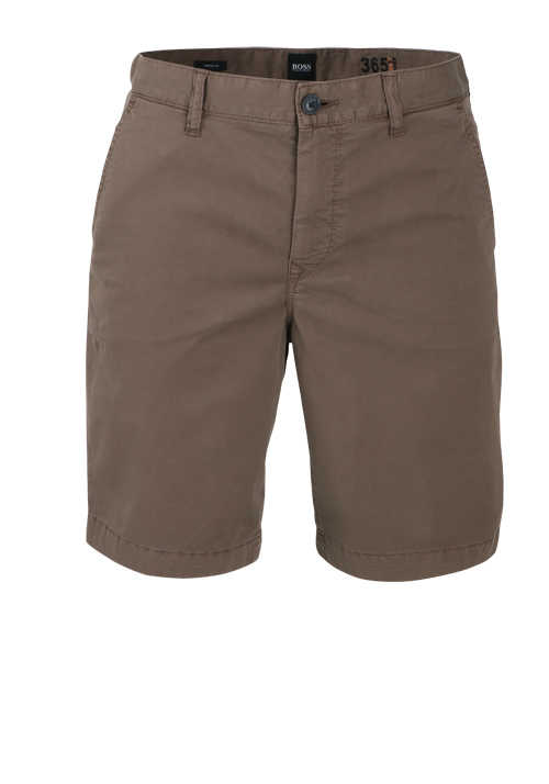 BOSS Tapered Fit Shorts SCHINO-TABER Button-Zipp-Verschluss mokka