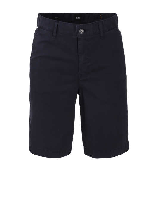 BOSS Tapered Fit Shorts SCHINO-TABER Button-Zipp-Verschluss navy