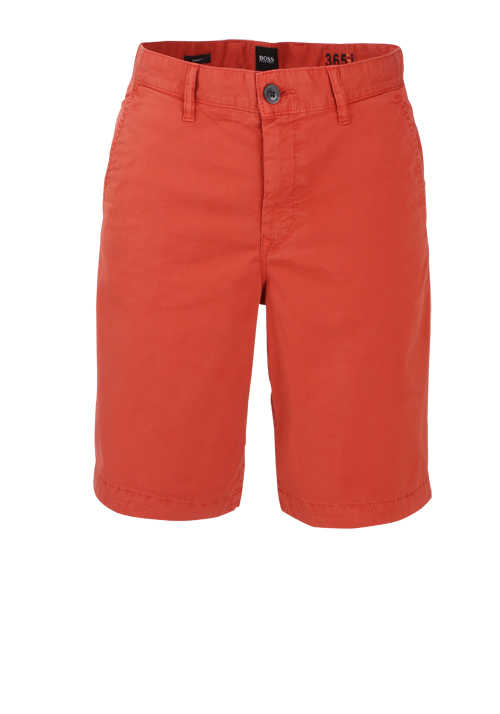 BOSS Tapered Fit Shorts SCHINO-TABER Button-Zipp-Verschluss orange