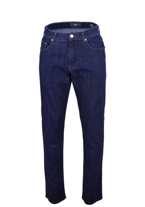 BRAX Regular Fit Hose COOPER 5 Pocket Stretch dunkelblau