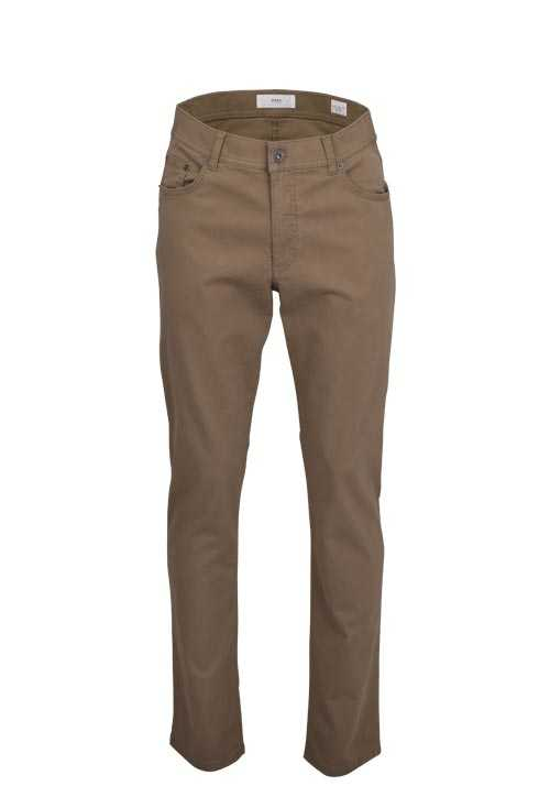 BRAX Regular Fit Hose COOPER FA 5 Pocket Stretch mittelbraun