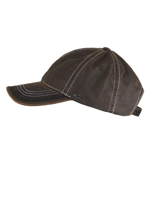 CAMEL ACTIVE Cap in Leder-Optik mit Metalllogo mittelbraun