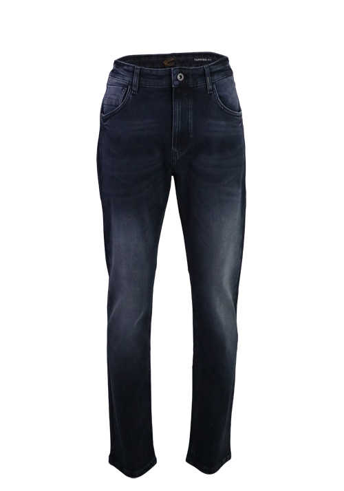 CAMEL ACTIVE Jeans Hose Tapered Fit Stretch dunkelblau