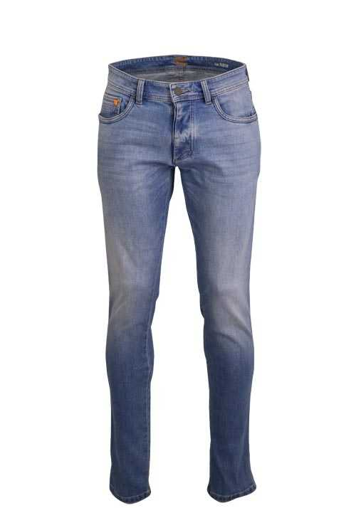 CAMEL ACTIVE Modern Fit Jeans MADISON Used 5 Pocket hellblau