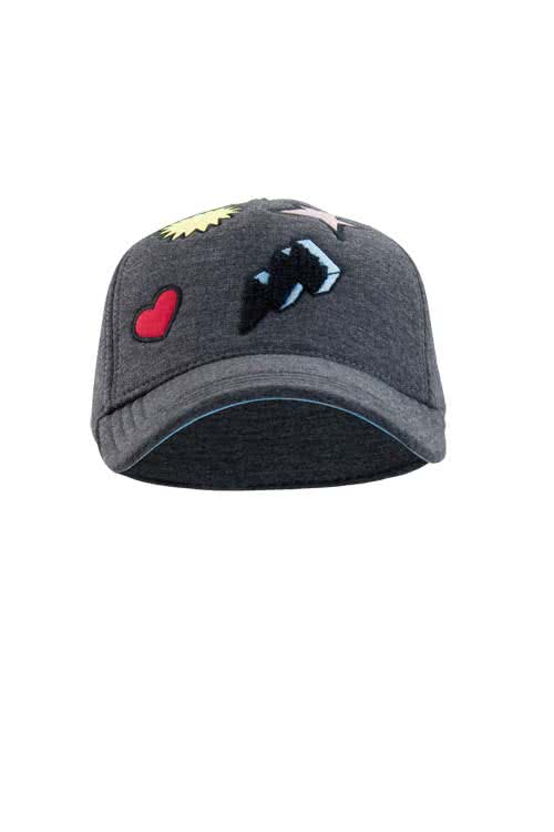 DIESEL Cap Patches graphit