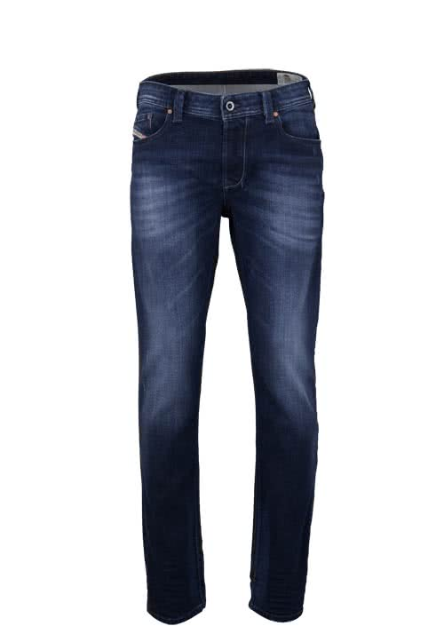 DIESEL Regular Fit Jeans LARKEE-BEEX Stretch Used dunkelblau