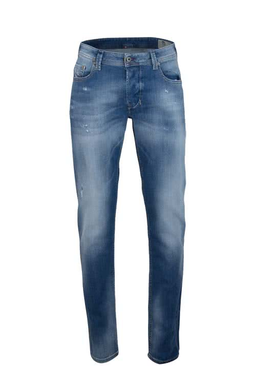 DIESEL Regular Fit Jeans LARKEE-BEEX Stretch used hellblau