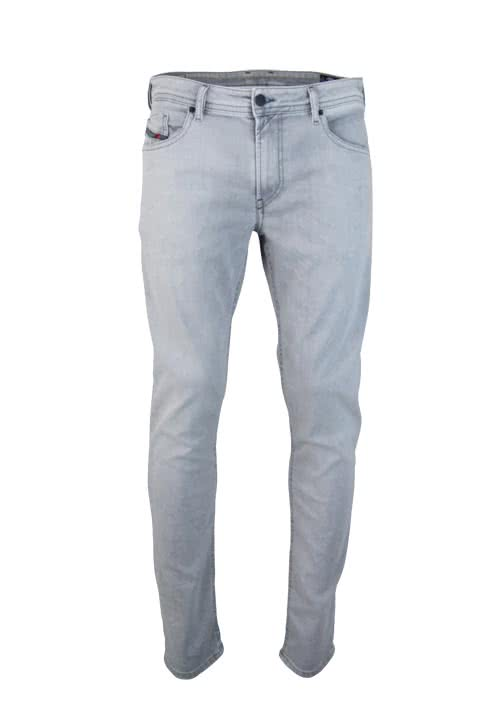 DIESEL Slim-Skinny Jeans THOMMER Used Stretch hellgrau