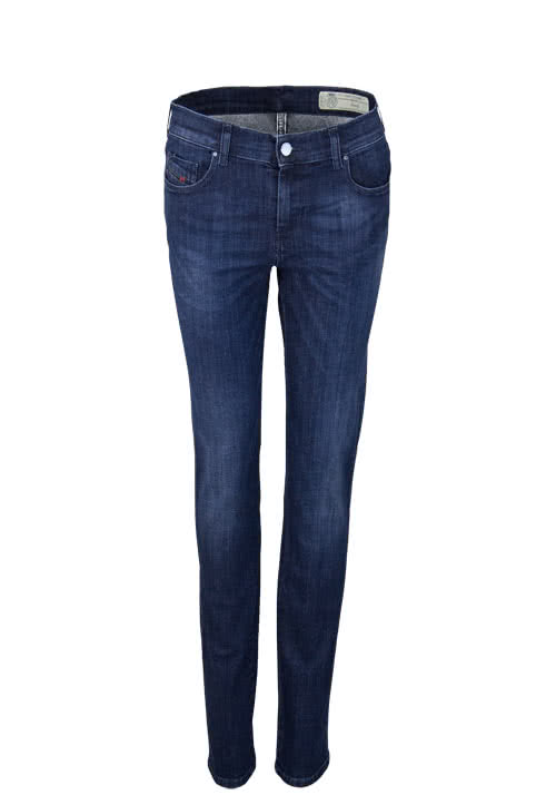 DIESEL Straight Jeans SANDY Used Stretch nachtblau
