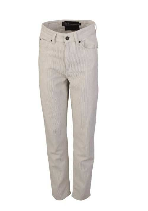 DRYKORN Straight Kordhose MOM High Waist 5 Pocket ecru