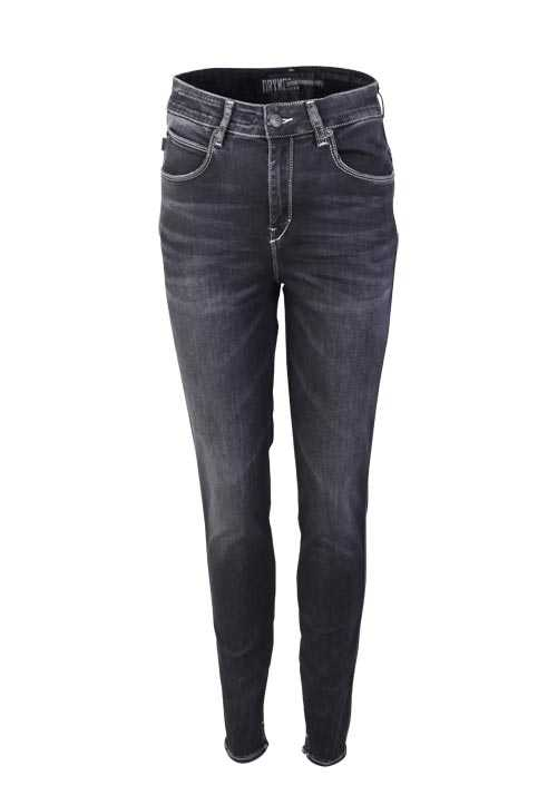DRYKORN Skinny Jeans WET High Waist Used anthrazit