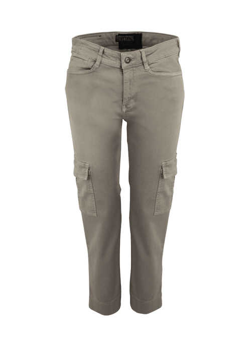 DRYKORN Cargo Hose OUTBOUND Seitentaschen Stretch 5 Pocket oliv