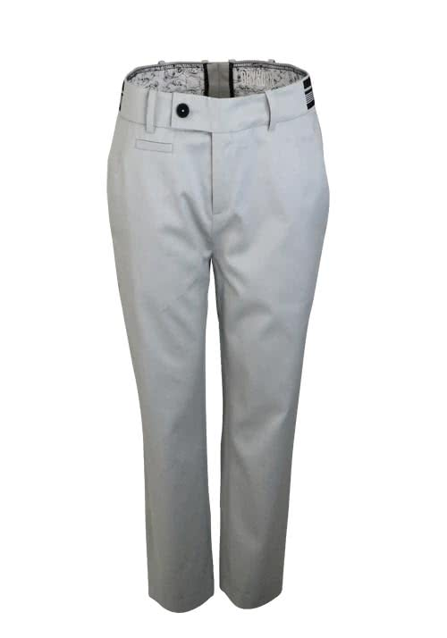 DRYKORN Relaxed Fit Hose LOBBY Cropped Taschen hellgrau