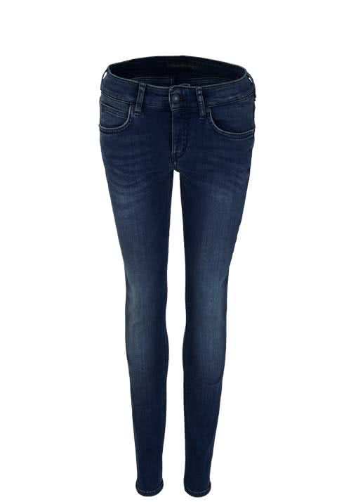 DRYKORN Skinny Jeans IN Waschung used dunkelblau