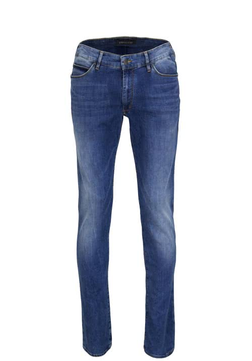 DRYKORN Slim Fit Jeans JAW Used mittelblau
