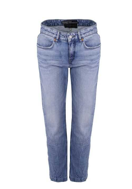 DRYKORN Straight Jeans PASS High Waist Used 5 Pocket mittelblau