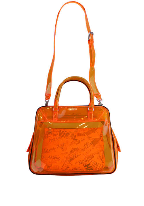 ESSENTIEL ANTWERP Shopper Tasche VAROUSKA durchsichtig Zipper orange