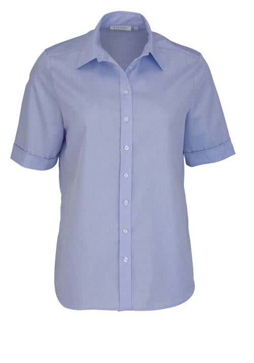 Mode-schoedlbauer.de ETERNA Classic Bluse Halbarm Chambray hellblau 6250/12/H380