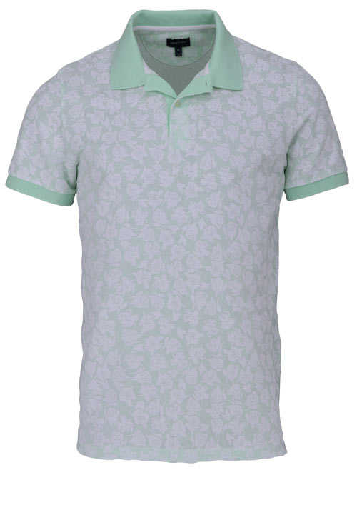 GANT Poloshirt Regular Fit Polokragen Allover Druck Blumen mint
