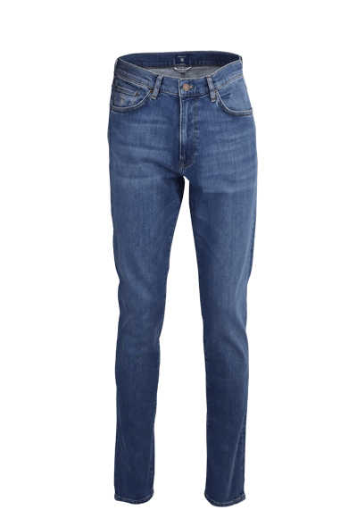 GANT Slim Fit Jeans 5 Pocket Used mittelblau