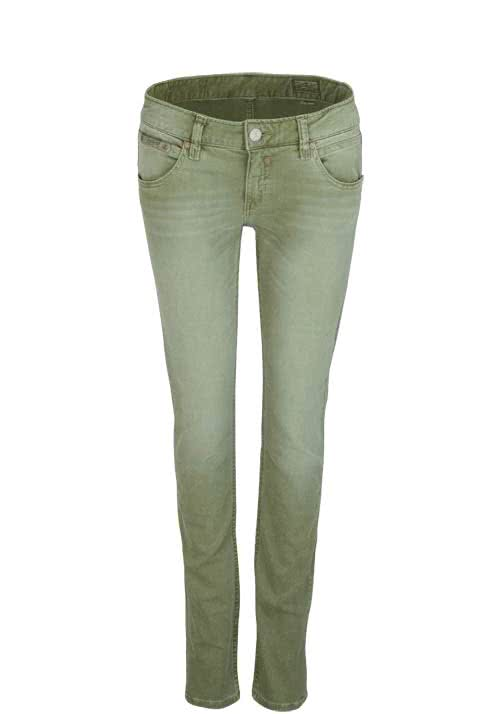 HERRLICHER Slim Jeans TOUCH Stretch Used oliv
