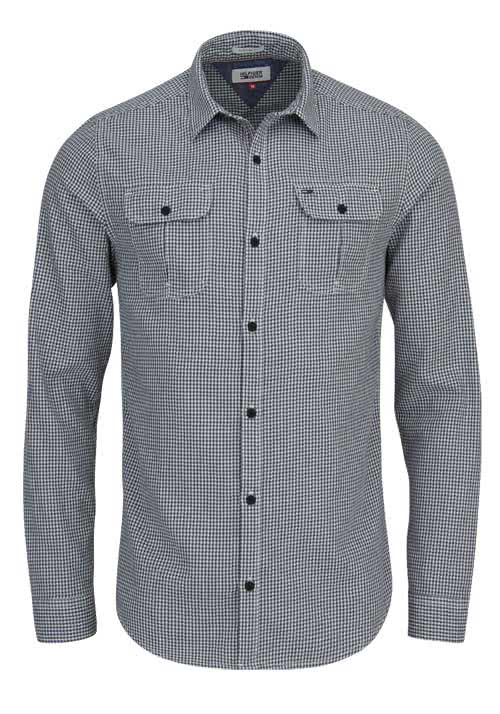 HILFIGER DENIM Regular Fit Hemd GINGHAM Karo schwarz/wei�