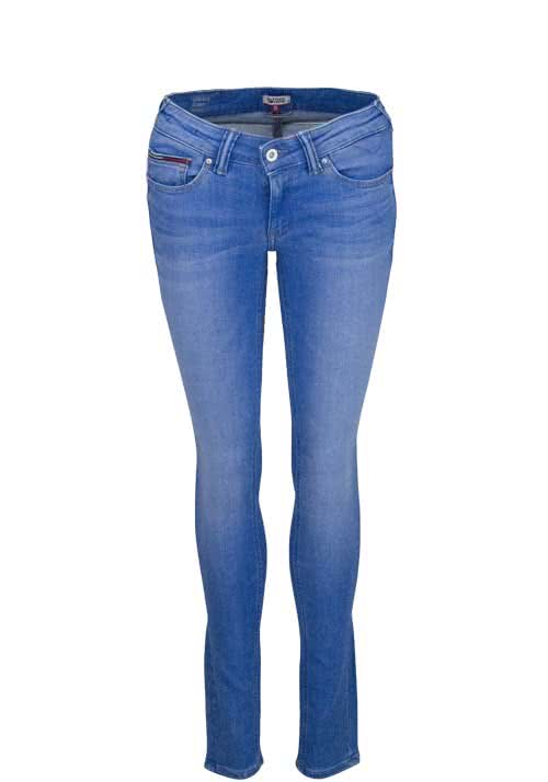 HILFIGER DENIM Skinny Jeans SOPHIE Stretch Used hellblau