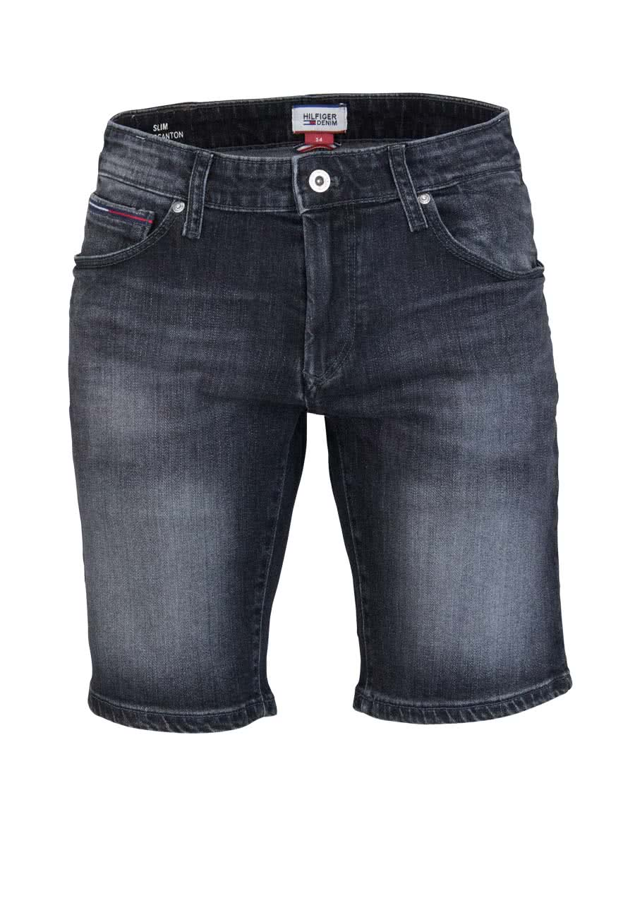 HILFIGER DENIM Slim Fit Short SCANTON Jeans Used anthrazit