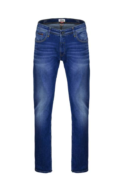 HILFIGER DENIM Straight Jeans RYAN Stretch mittelblau