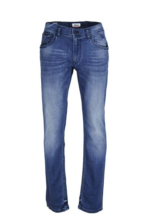 HILFIGER DENIM Straight Jeans RYAN Used mittelblau