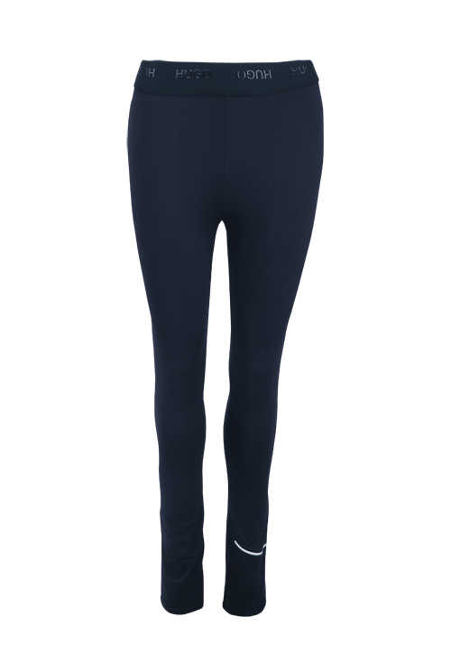 HUGO Damen Leggings NICAGO Gummibund Logo navy