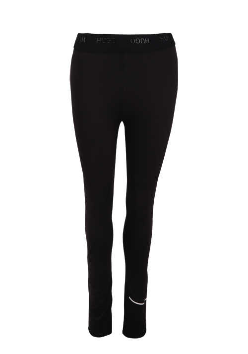 HUGO Damen Leggings NICAGO Gummibund Logo schwarz